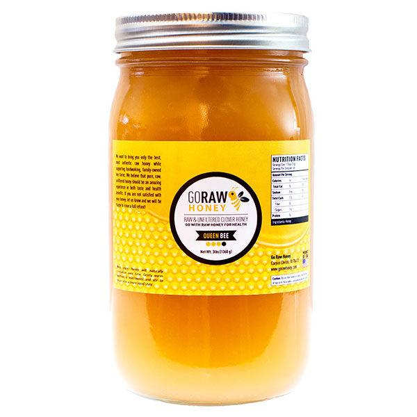 go raw honey - queen bee jar honey