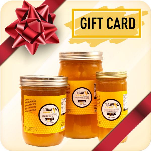 raw honey gift cards