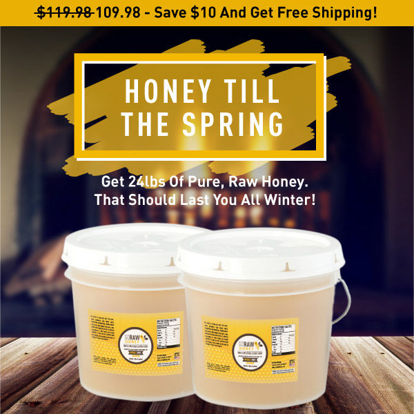 24lbs of bulk raw honey discounted