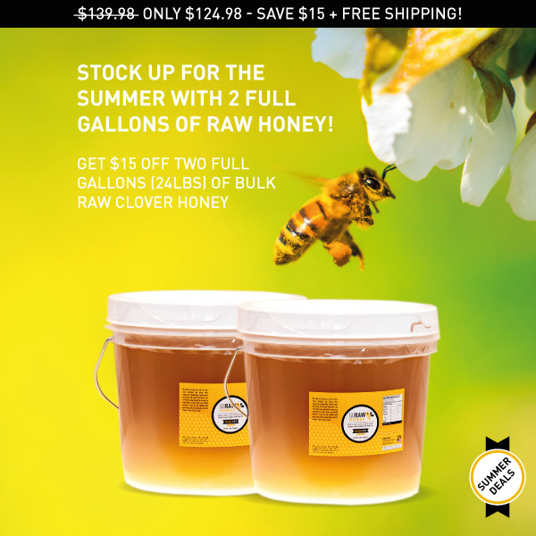 two raw honey gallons discounted