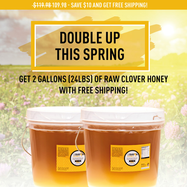 two gallons of real raw honey