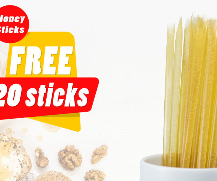 FLASH SALE - Get 20 FREE Honey Sticks With Every Order - Ends April 2nd, 2018