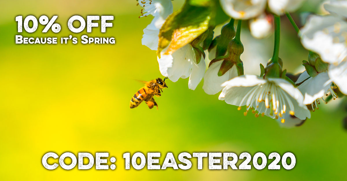 Our Spring/Easter 10% Off Coupon: 10EASTER2020