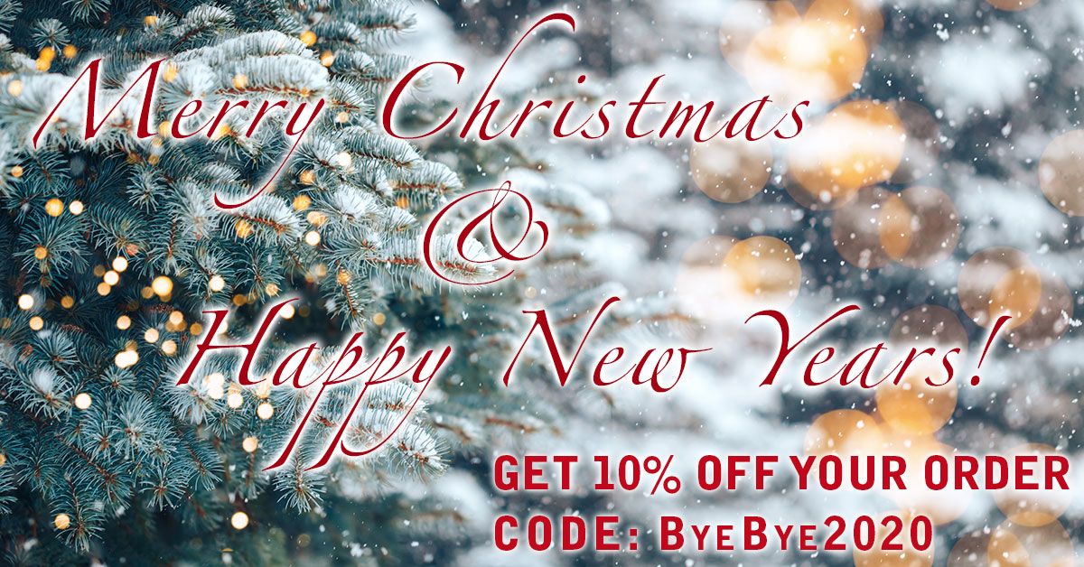 Say Bye Bye to 2020 With Our Christmas/New Year Sale!