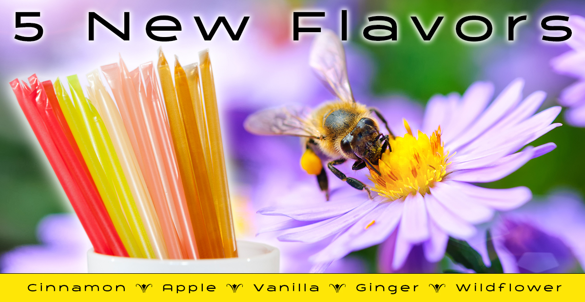 Just in Time For Spring 2021, Five New Honey Stick Flavors!
