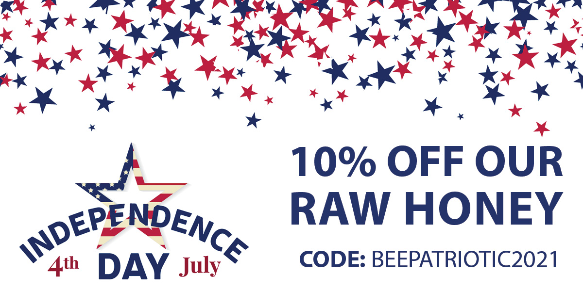 Enjoy 10% Off Our Raw Honey This 4th Of July